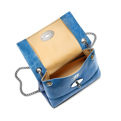 Minibag in pelle bata, blu, 964-9239 - 16