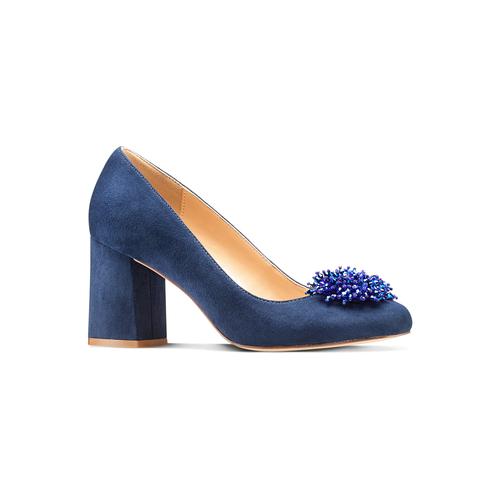 Décolleté Insolia con perline insolia, blu, 729-9217 - 13