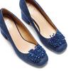 Décolleté Insolia con perline insolia, blu, 729-9217 - 26