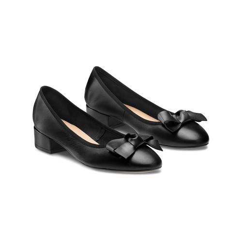 Ballerine con tacco bata, nero, 524-6420 - 16