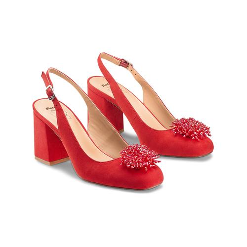 Sling Back Insolia con perline insolia, rosso, 729-5216 - 16