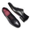 Stringate in vera pelle bata-the-shoemaker, nero, 824-6347 - 26