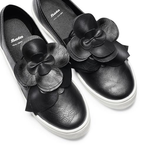 Sneakers con applicazioni bata, nero, 541-6381 - 26