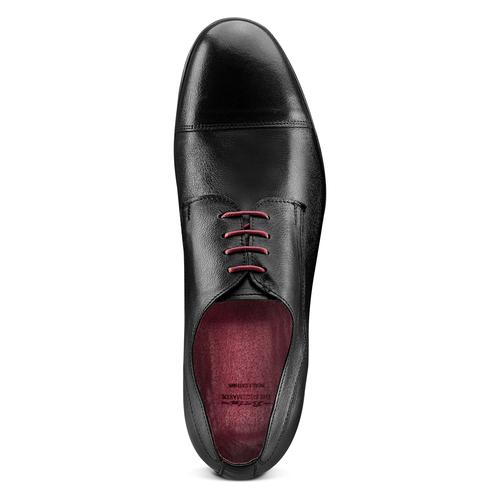 Stringate in vera pelle bata-the-shoemaker, nero, 824-6347 - 17