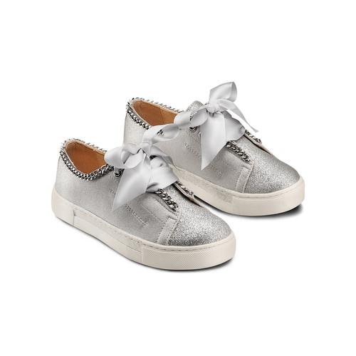 Sneakers senza lacci da bambina mini-b, grigio, 321-2307 - 16