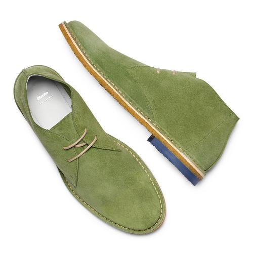 Polacchini in suede bata, verde, 823-7291 - 26