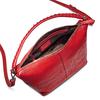 Hobo bag in pelle bata, rosso, 964-5121 - 16