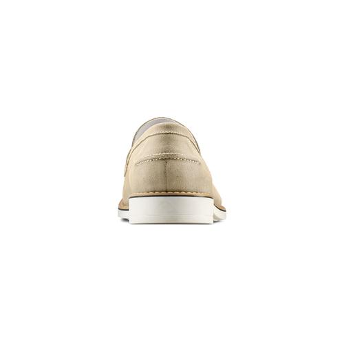Mocassini in suede bata, beige, 813-8113 - 15