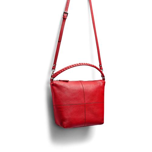 Hobo bag in pelle bata, rosso, 964-5121 - 17