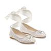Ballerine con nastro alla caviglia mini-b, bianco, 329-1219 - 16
