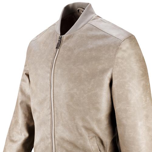 Bomber da uomo con trafori bata, grigio, 971-2197 - 15