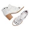 Sandali con effetto arricciato bata, bianco, 724-2192 - 26