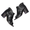 Sandali con effetto arricciato bata, nero, 724-6192 - 26