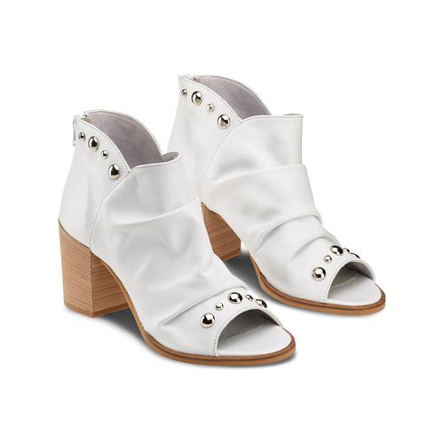 Sandali con effetto arricciato bata, bianco, 724-2192 - 16
