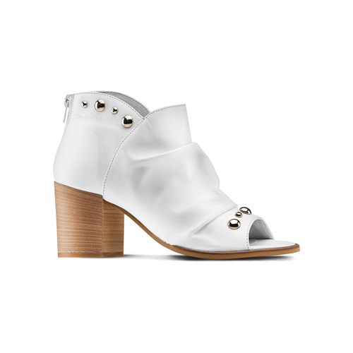 Sandali con effetto arricciato bata, bianco, 724-2192 - 13