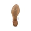 Sandali con effetto arricciato bata, bianco, 724-2192 - 19