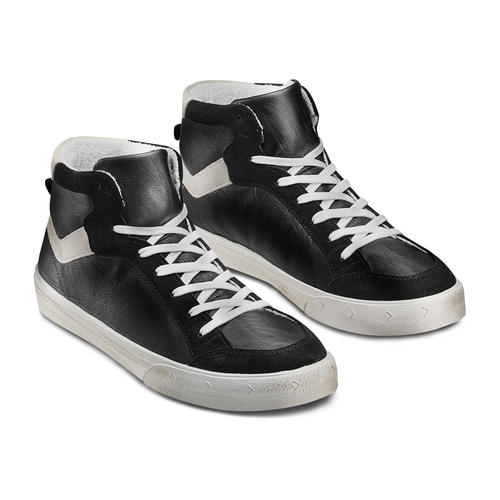 Sneakers alla caviglia bata, nero, 841-6406 - 16
