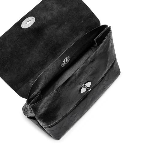 Borsa a spalla in vera pelle bata, nero, 964-6356 - 16