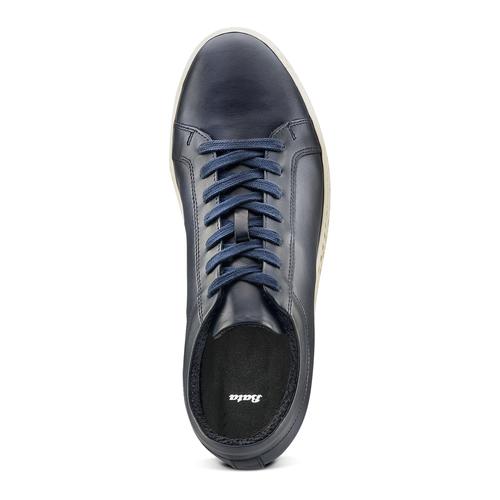 Sneakers in pelle bata, blu, 844-9137 - 17