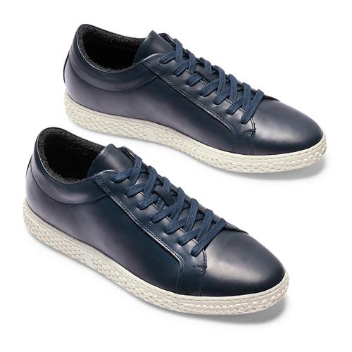 Sneakers in pelle bata, blu, 844-9137 - 26