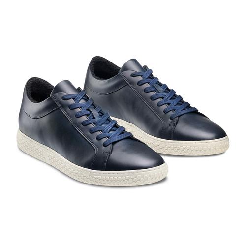 Sneakers in pelle bata, blu, 844-9137 - 16
