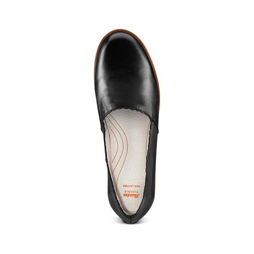 Mocassini da donna flexible, nero, 514-6148 - 17