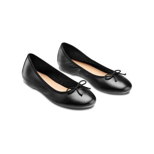Ballerine da donna bata, nero, 524-6144 - 16