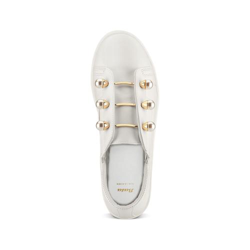 Sneakers con maxi perle bata, bianco, 541-1375 - 17