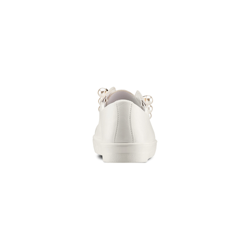 Sneakers con maxi perle bata, bianco, 541-1375 - 15