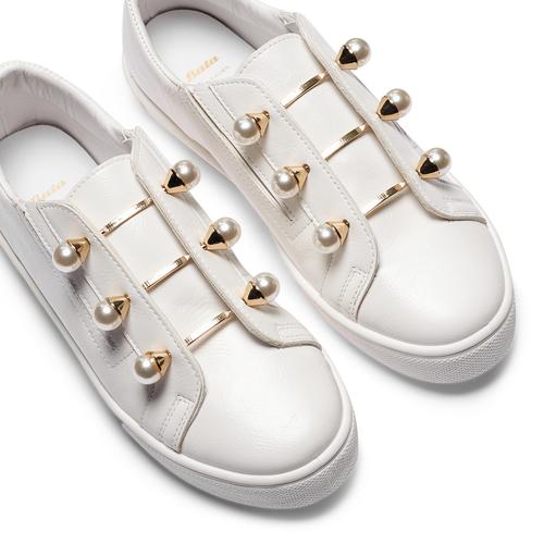 Sneakers con maxi perle bata, bianco, 541-1375 - 26