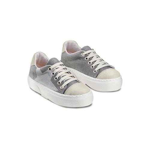 Sneakers con lacci elastici mini-b, grigio, 219-2194 - 16