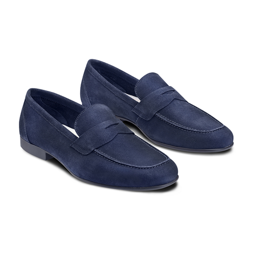 Mocassini in suede flexible, blu, 853-9186 - 16