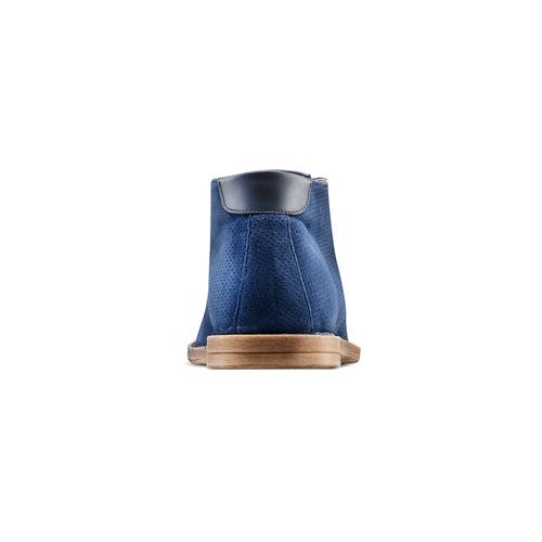 Desert Boots in suede bata, blu, 823-9420 - 15
