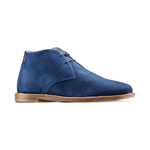 Desert Boots in suede bata, blu, 823-9420 - 13