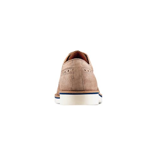 Stringate in suede bata-light, beige, 823-2279 - 15