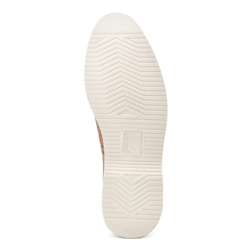 Stringate in suede bata-light, beige, 823-2279 - 19