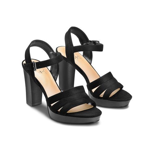 Sandali con tacco quadrato insolia, nero, 769-6700 - 16