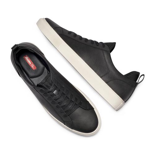Sneakers in canvas bata-rl, nero, 841-6374 - 26