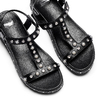 Sandali con perle bata, nero, 561-6369 - 26