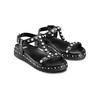 Sandali con perle bata, nero, 561-6369 - 16