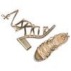 Sandali Insolia con lacci insolia, oro, 761-8173 - 26