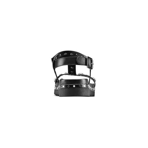 Sandali con perle bata, nero, 561-6369 - 15