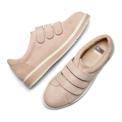 Sneakers in suede bata, rosa, 543-5401 - 26