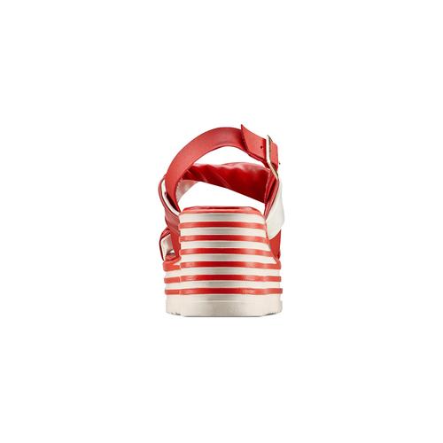 Sandali con zeppa bata, rosso, 661-5282 - 15