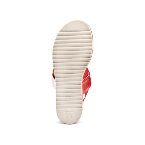 Sandali con zeppa bata, rosso, 661-5282 - 19