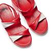 Sandali con zeppa bata, rosso, 661-5282 - 26