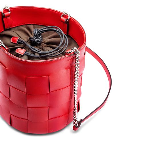 Borsa a secchiello bata, rosso, 961-5233 - 15