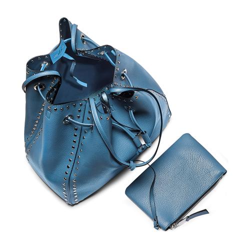 Borsa a secchiello bata, blu, 961-9314 - 16
