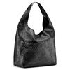 Hobo bag con trafori bata, nero, 961-6270 - 13
