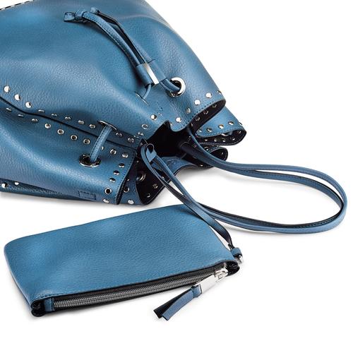Borsa a secchiello bata, blu, 961-9314 - 15